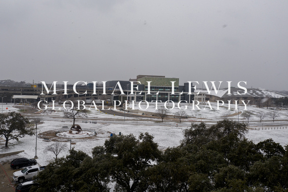 Winter snowstorm in Austin Texas Feb 2021 - Long Center